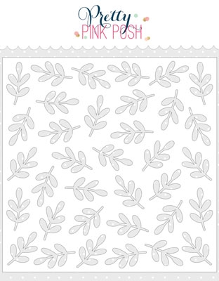 Pretty Pink Posh LEAVES Stencil  zoom image