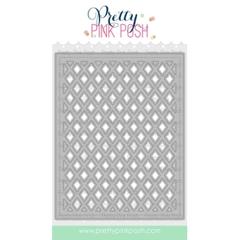 Pretty Pink Posh LATTICE BACKGROUND Die
