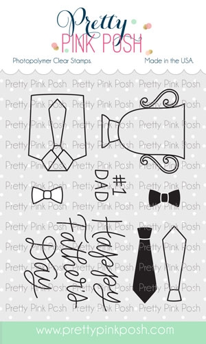 Pretty Pink Posh FATHER'S DAY Clear Stamps* Preview Image