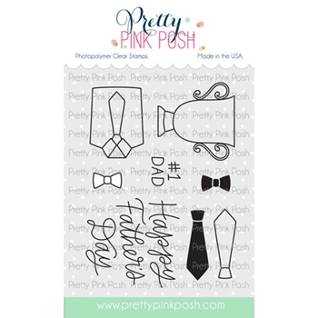 Pretty Pink Posh FATHER'S DAY Clear Stamps