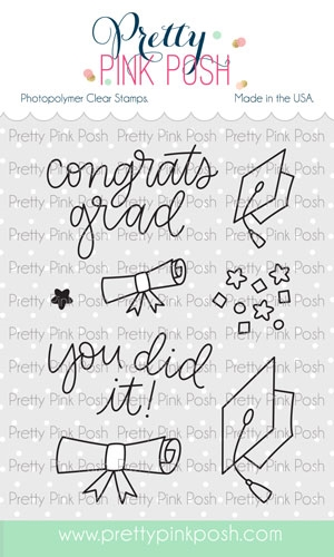 Pretty Pink Posh CONGRATS GRAD Clear Stamps  Preview Image