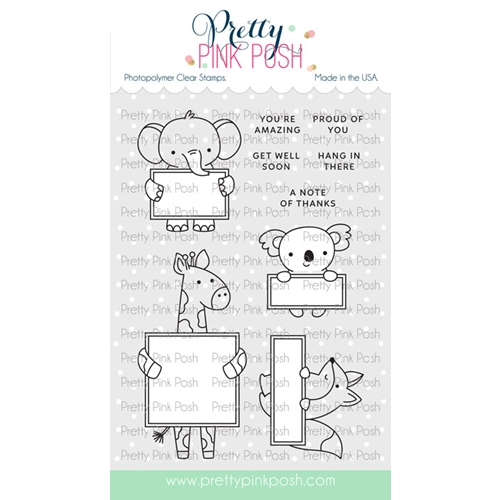 Pretty Pink Posh ANIMAL SIGNS Clear Stamps Preview Image