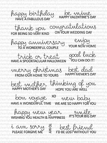 Clearly Besotted FEELING SENTIMENTAL Clear Stamps Preview Image