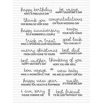 Clearly Besotted FEELING SENTIMENTAL Clear Stamps