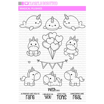 Clearly Besotted MAGICAL PLUSHIES Clear Stamps