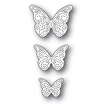 Memory Box PINPOINT BUTTERFLY TRIO Craft Dies 94279