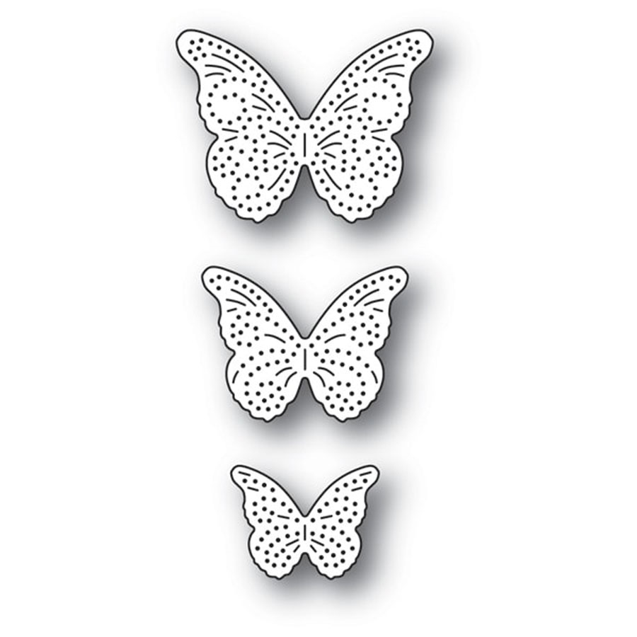 Memory Box PINPOINT BUTTERFLY TRIO Craft Dies 94279 zoom image