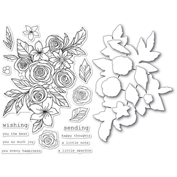 Memory Box ROSE BOUQUET Open Studio Clear stamp and die set cl5241d