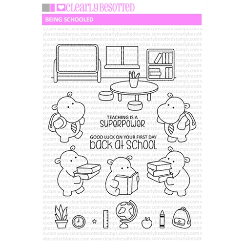 Clearly Besotted BEING SCHOOLED Clear Stamps Preview Image