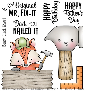 Darcie's MR. FIX IT Clear Stamp Set pol432 Preview Image