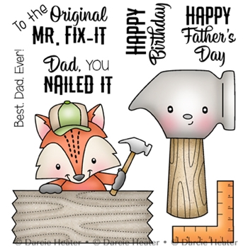 Darcie's MR. FIX IT Clear Stamp Set pol432