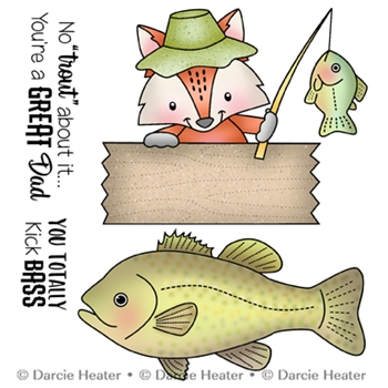 Darcie's NO TROUT ABOUT IT Clear Stamp Set pol434