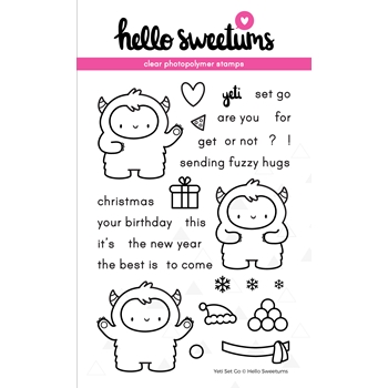 Hello Sweetums YETI SET GO Clear Stamp Set 336479