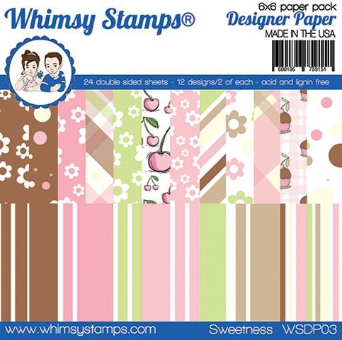 Whimsy Stamps SWEETNESS 6 x 6 Paper Pads WSDP03 Preview Image