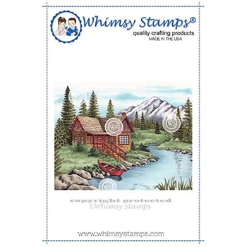 Whimsy Stamps MOUNTAIN SERENITY Cling Stamp DA1112