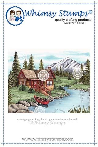 Whimsy Stamps MOUNTAIN SERENITY Cling Stamp DA1112 zoom image