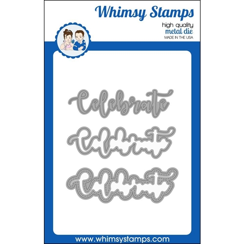 Whimsy Stamps CELEBRATE WORD AND SHADOW Dies WSD377 Preview Image