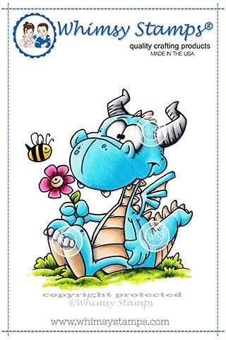 Whimsy Stamps DORKY DRAGON Cling Stamp DP1012 zoom image
