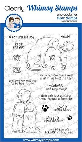 Whimsy Stamps BEST BUDDIES Clear Stamps CWSD247 Preview Image