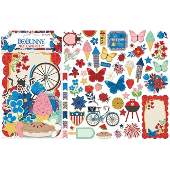 BoBunny CELEBRATING FREEDOM Die Cuts Noteworthy 7310556