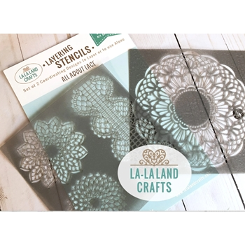 La-La Land Crafts ALL ABOUT LACE Stencil ST009