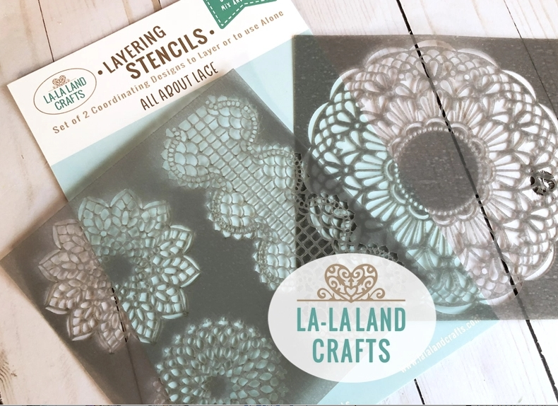 La-La Land Crafts ALL ABOUT LACE Stencil ST009 zoom image