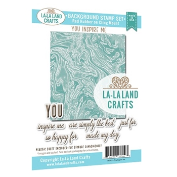 La-La Land Crafts YOU INSPIRE ME Background Cling Stamps BK011