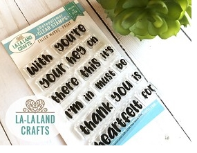 La-La Land Crafts Clear Stamps FILLER WORDS PRINT CL036