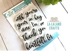 La-La Land Crafts Clear Stamps FILLER WORDS CURSIVE CL035