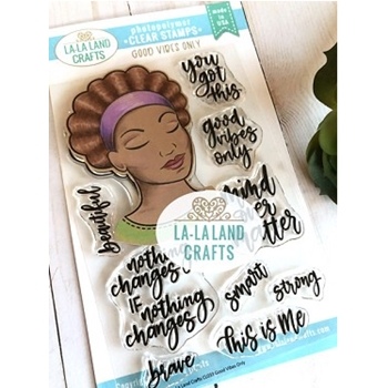 La-La Land Crafts Clear Stamps GOOD VIBES ONLY CL033