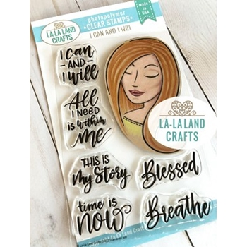 La-La Land Crafts Clear Stamps I CAN AND I WILL CL032