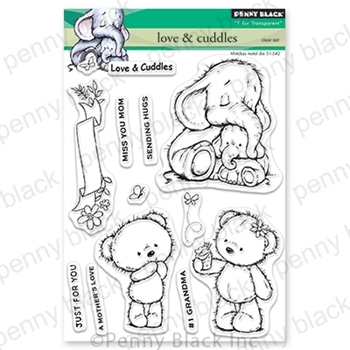 Penny Black Clear Stamps LOVE AND CUDDLES 30-556*