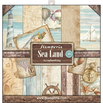 Stamperia SEA LAND 12x12 Paper sbbl37