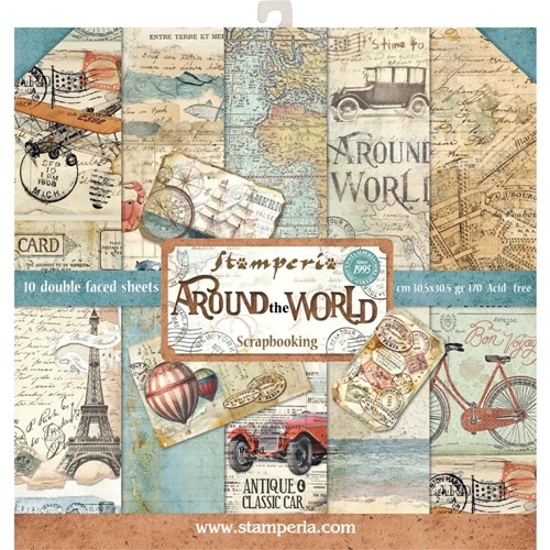 Stamperia AROUND THE WORLD 12x12 Paper sbbl28 Preview Image