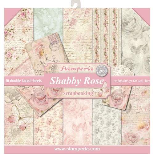 Stamperia SHABBY ROSE 12x12 Paper sbbl12 Preview Image