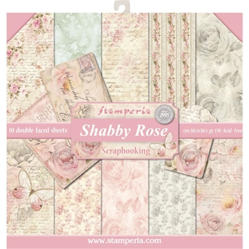 Stamperia SHABBY ROSE 12x12 Paper sbbl12