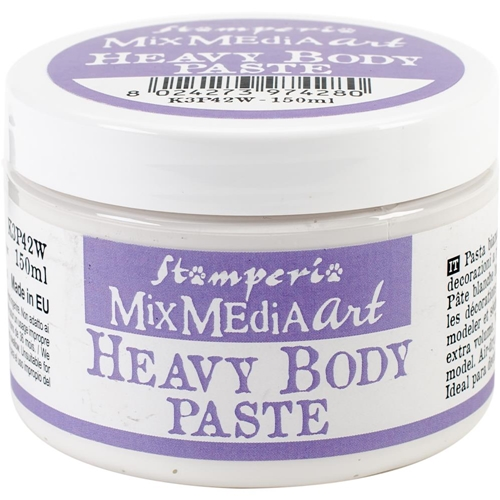 Stamperia WHITE HEAVY BODY PASTE k3p42w Preview Image
