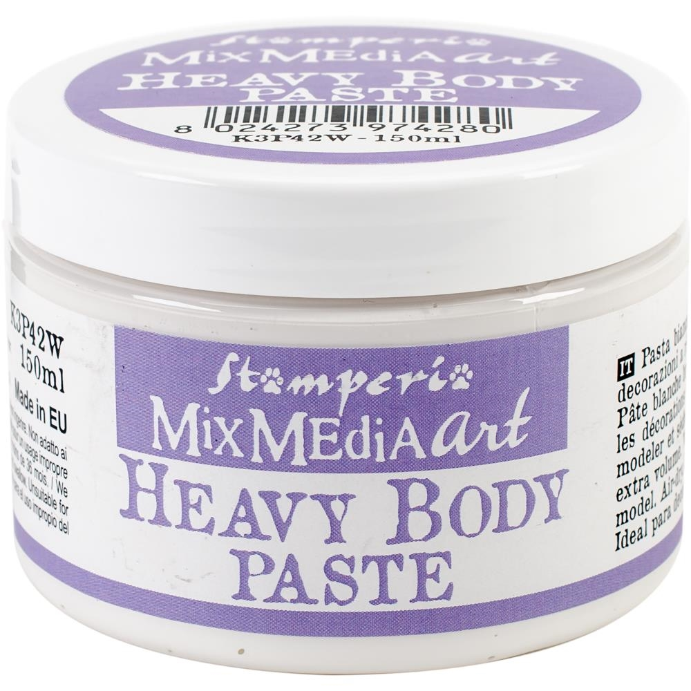 Stamperia WHITE HEAVY BODY PASTE k3p42w zoom image