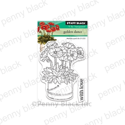 Penny Black Clear Stamps GOLDEN DANCE 30-562 zoom image