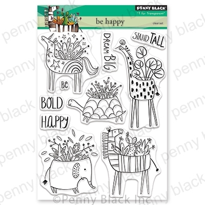 Penny Black Clear Stamps BE HAPPY 30-583 zoom image