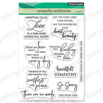 Penny Black Clear Stamps SYMPATHY SENTIMENTS 30-582