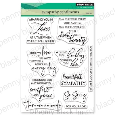 Penny Black Clear Stamps SYMPATHY SENTIMENTS 30-582 zoom image