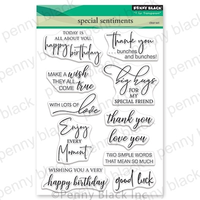 Penny Black Special Sentiments Clear Stamp Set