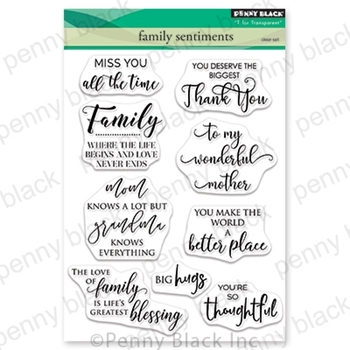 Penny Black Clear Stamps FAMILY SENTIMENTS 30-555