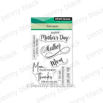 Penny Black Clear Stamps BEST MOM 30-584