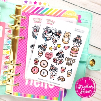 The Greeting Farm COFFEE DATE Stickers TGF476