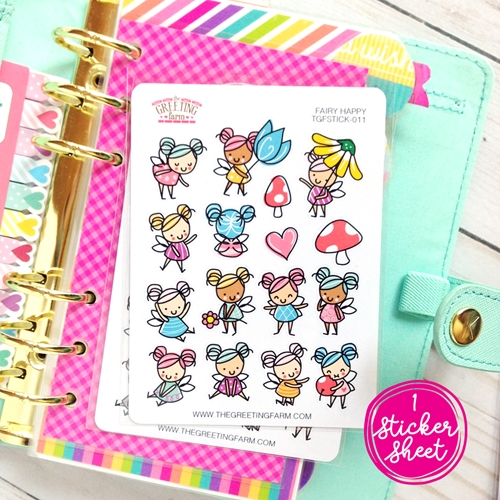 The Greeting Farm FAIRY HAPPY Stickers TGF479 Preview Image