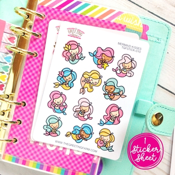 The Greeting Farm MERMAID KISSES Stickers TGF482