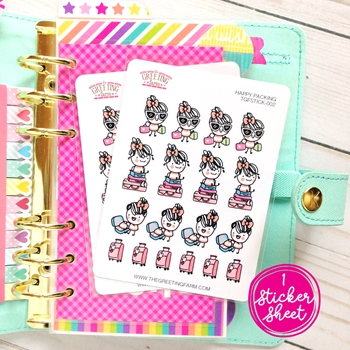 The Greeting Farm HAPPY PACKING Stickers TGF480