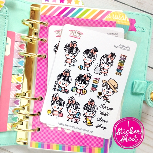 The Greeting Farm ERRANDS Stickers TGF478 Preview Image